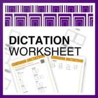Dictation Worksheets